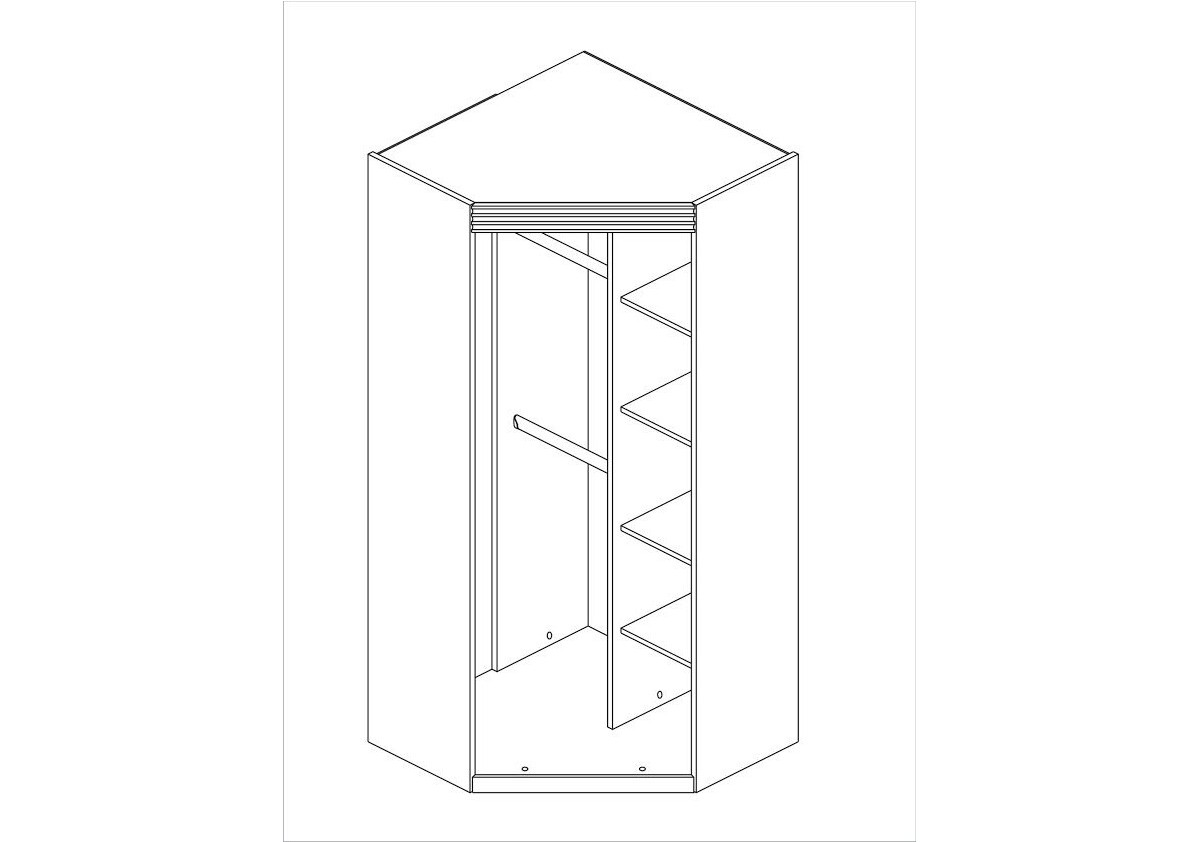 Armoire d angle alinea simple amazing dressing d angle for Armoire d angle alinea