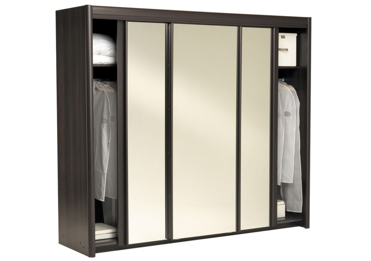 armoire carla 3 portes table de lit. Black Bedroom Furniture Sets. Home Design Ideas