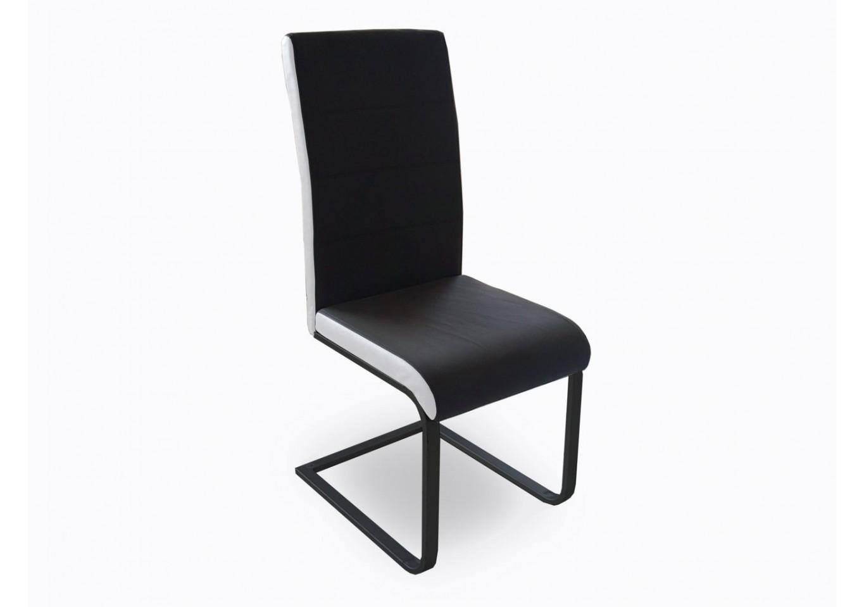 Chaise galia pvc noir blanc chaises s jour for Chaise sejour noir