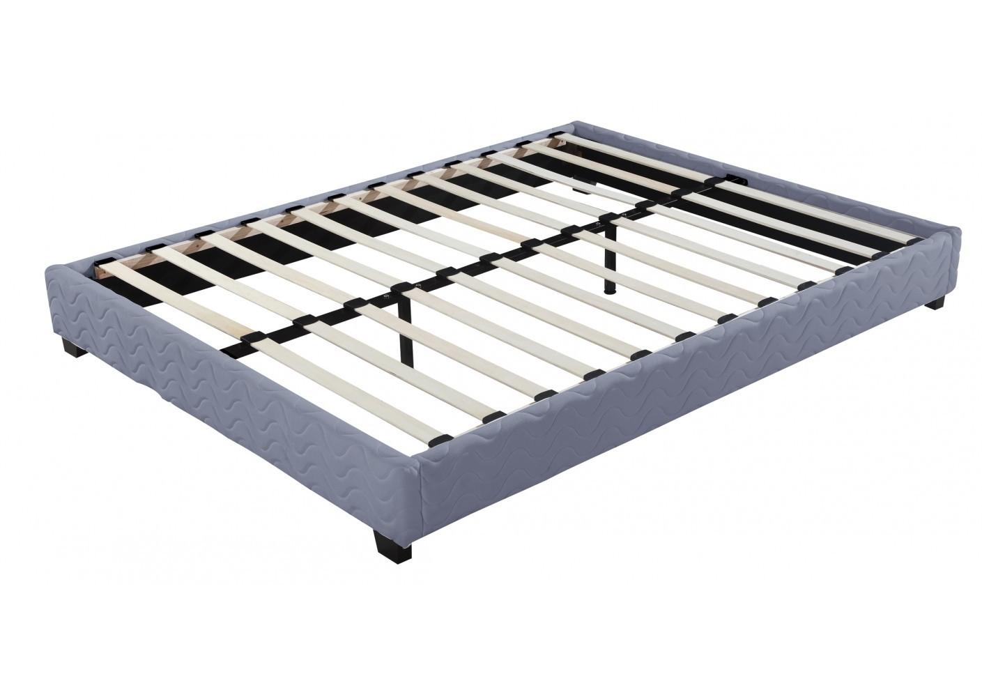 sommier tapissier diva 140 x 190 cm gris. Black Bedroom Furniture Sets. Home Design Ideas