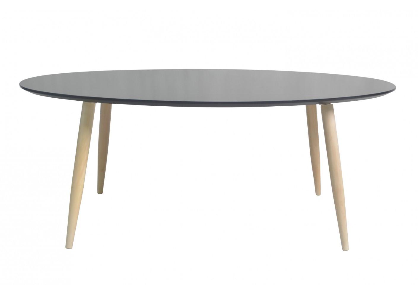 table de salon ovale manon noir salon. Black Bedroom Furniture Sets. Home Design Ideas