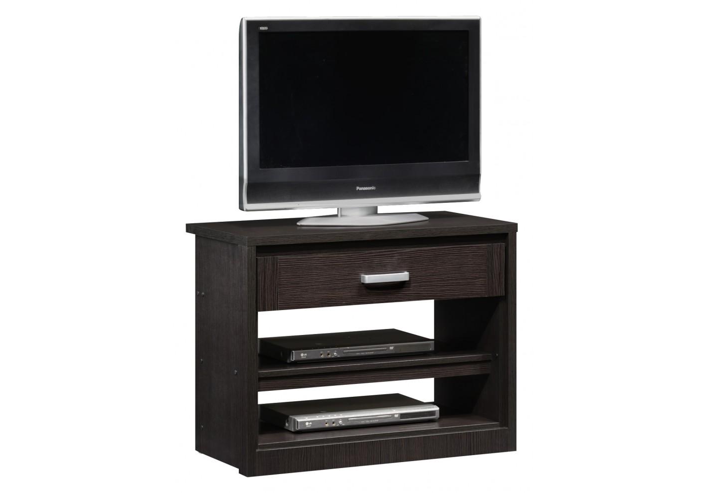 meuble tv curtis 1 tiroir 2 tag res wenge. Black Bedroom Furniture Sets. Home Design Ideas