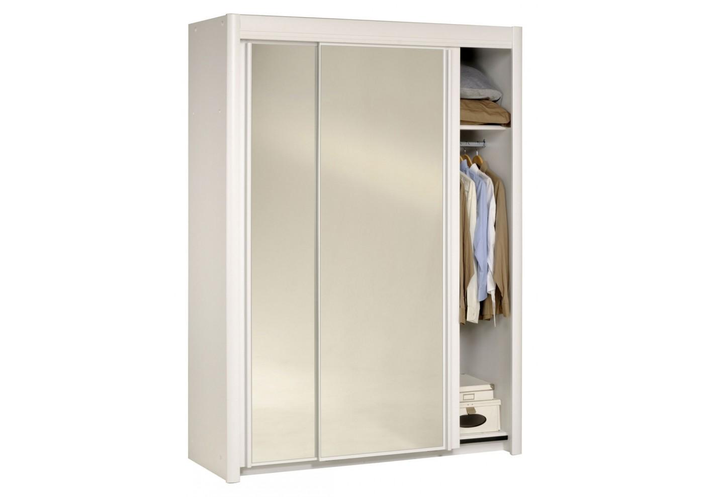 #614C31 Armoire 2 Portes Coulissantes CARLA Blanc 1015 armoire portes coulissantes d'occasion 1410x989 px @ aertt.com