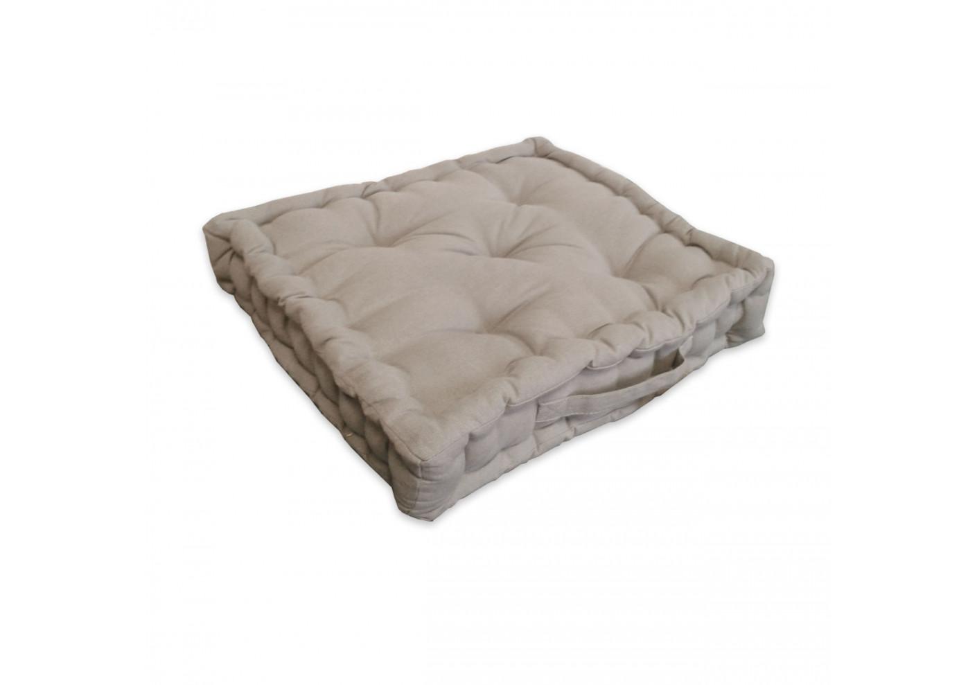 coussin de sol cosy beige 40x40 cm chambre. Black Bedroom Furniture Sets. Home Design Ideas