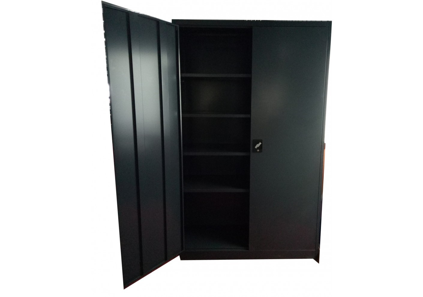Armoire 2 portes m tallique coloris anthracite ar2pb 195 for Armoire metallique 2 portes