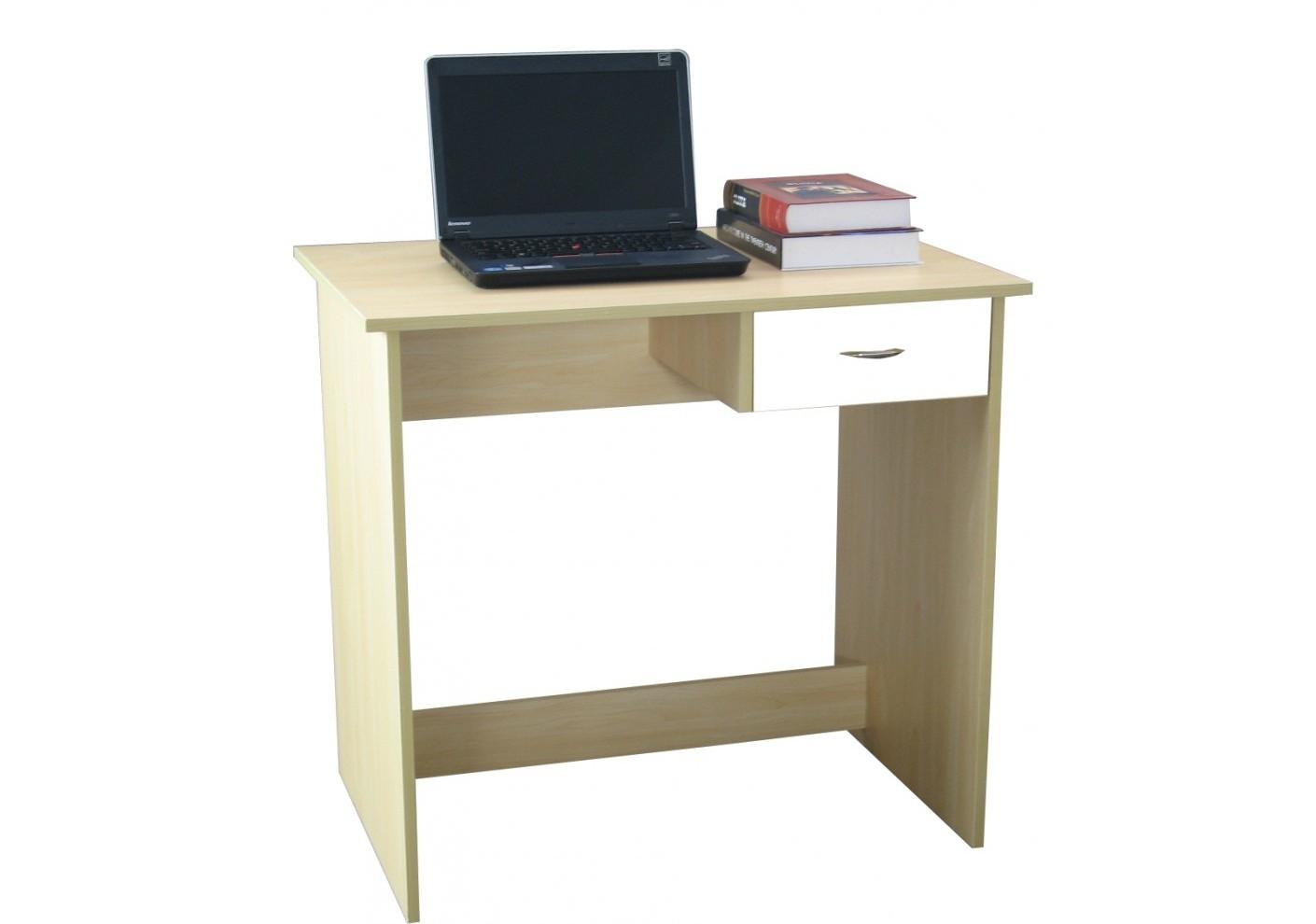 Bureau informatique hugo hêtre tiroir blanc bureaux caissons
