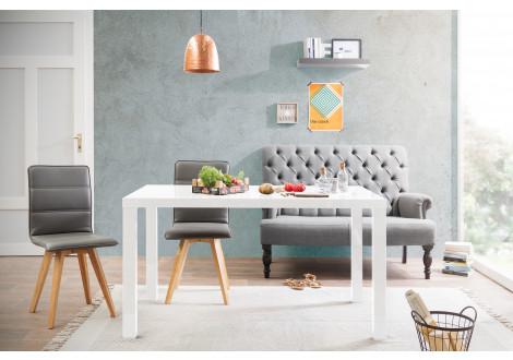 Table PRIMO blanc mat L140