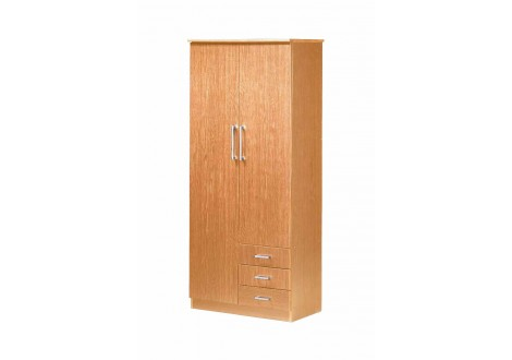 Armoire 2 portes/3 tiroirs KELLY hêtre