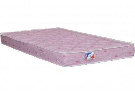 Matelas ressorts 140X190X15 FIRST COLOR rose