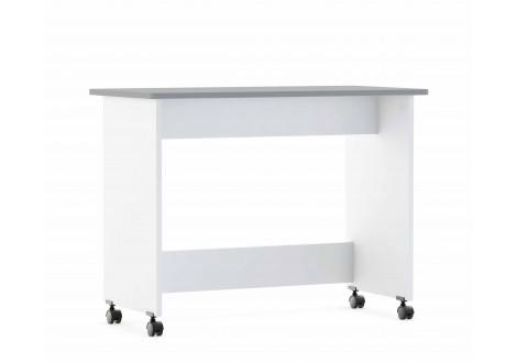 Bureau 1 tiroir FILOU blanc mat/gris foncé