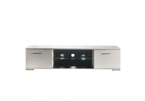 Meuble TV 2 portes + 1 niche ICY blanc mat/brillant