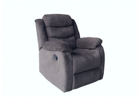 Fauteuil relax SAM tissu micro fibre gris