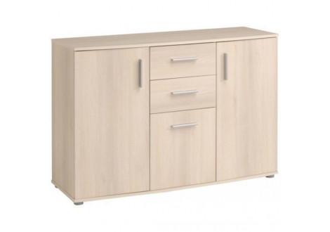 Buffet bas 2 portes/3 tiroirs SALTO acacia clair