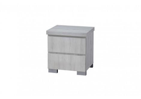 Chevet 2 tiroirs ALBA chêne clair relief