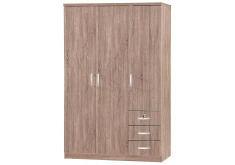 Armoire 3 portes/3 tiroirs  CHERRY chêne Sonoma