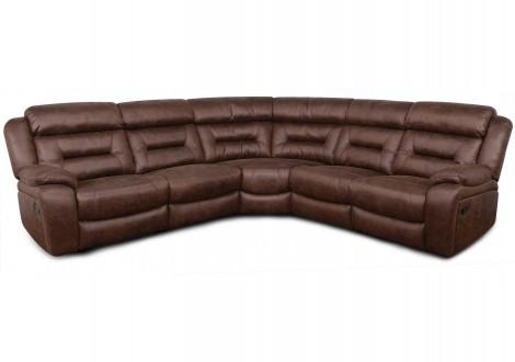 Canapé d'angle relax BOSTON PVC chocolat