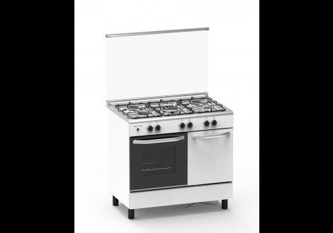 Cuisinière butanette 5 feux gaz MAGIC POINT blanc (GN95)