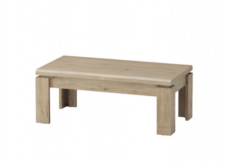 Table basse CALVI chêne clair relief