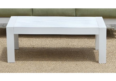 Table basse de jardin PATIO alu blanc