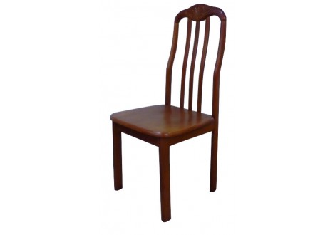 Chaise FLORA en hévéa massif teinté merisier