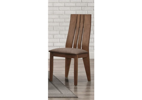 Chaise SEATTLE  bois massif teinté CAPUCCINO