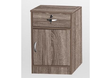 Chevet 1 porte/1 tiroir CHERRY chêne gris