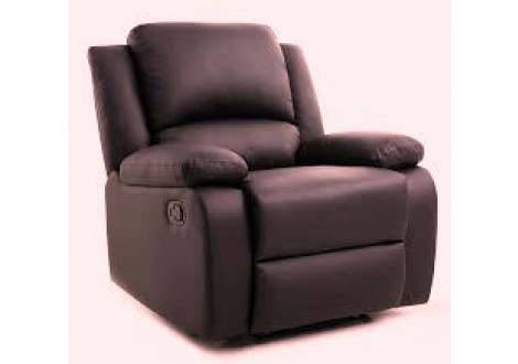 """Fauteuil relax RENO simili cuir Chocolat  """"AIR LEATHER"""""""