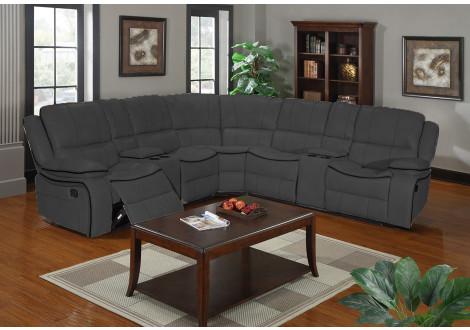Canapé d'angle relax CLIMB tissu gris foncé