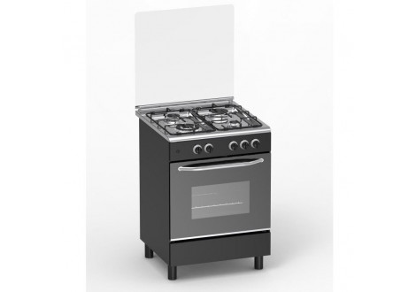 Cuisinière 4 feux gaz MAGIC POINT GM60 noir