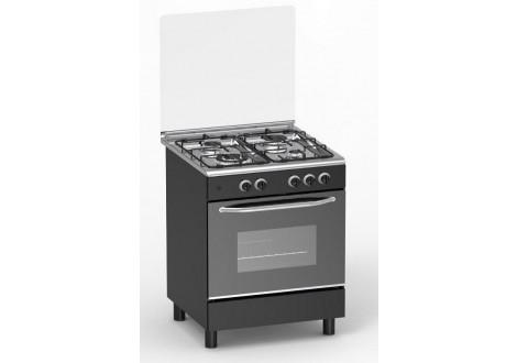 Cuisinière 4 feux gaz MAGIC POINT noir (GM60)