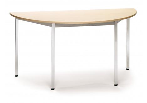Table de réunion demi-ronde L140 H75