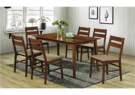 Ensemble Table + 6 chaises VIGO cappuccino