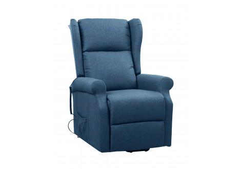Fauteuil de relaxation et releveur électrique PARIS tissu bleu