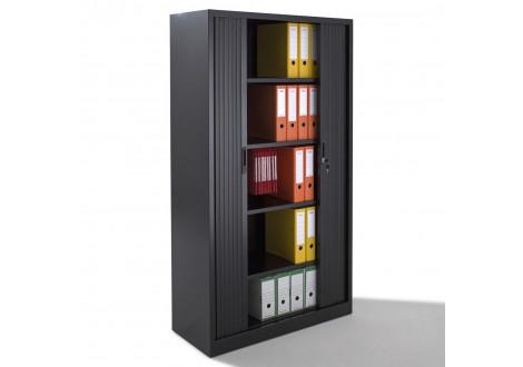Armoire métallique 2 portes à rideau BDX H1912  coloris noir