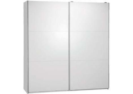 Armoire 2 portes coulissantes 200 MALAGA blanc mat