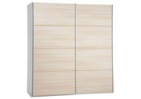 Armoire 150 ALBA 2 portes coulissantes blanc/frêne
