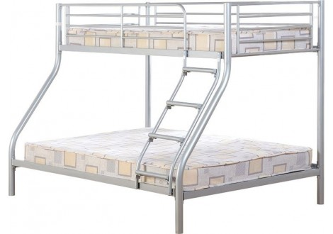 lit superpos optimo m tal argent 90 140 x 190 cm lits superpos s combi chambres. Black Bedroom Furniture Sets. Home Design Ideas