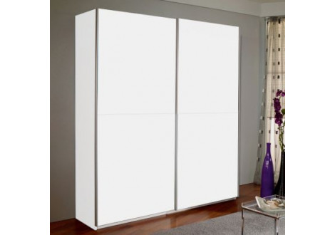 Armoire 200 MALAGA 2 portes coulissantes blanc mat