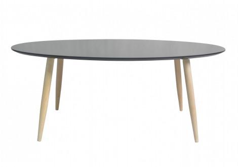Table de salon ovale MANON noir