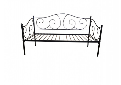 Banquette-lit 90x190 MELUSINE métal noir