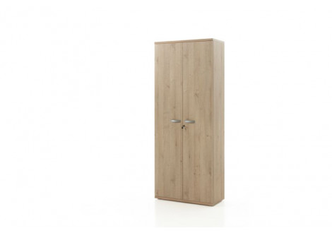Armoire Haute 2 portes ARGO Chêne naturel