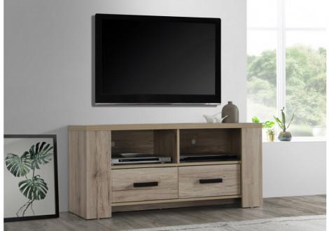 Meuble télé Oliver décor chêne san remo