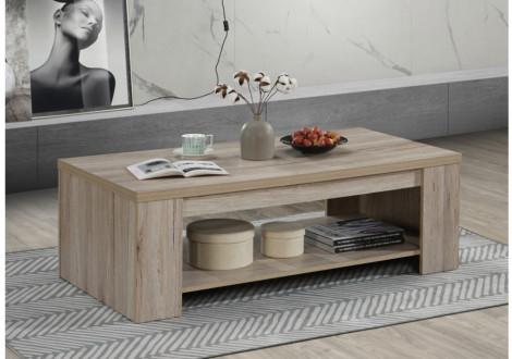 Table basse OLIVER chêne san remo