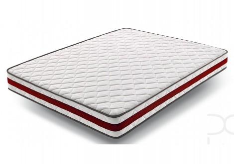 Matelas mousse 160X200X18 ORTHOSOFT blanc/rouge