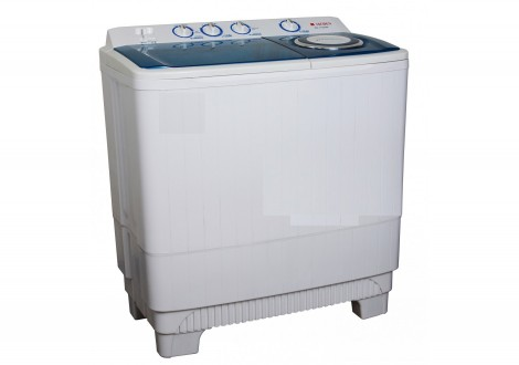 Lave linge plastique MAGIC POINT 12 kg blanc/bleu