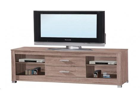 Meuble TV PASSY 2 tiroirs chêne