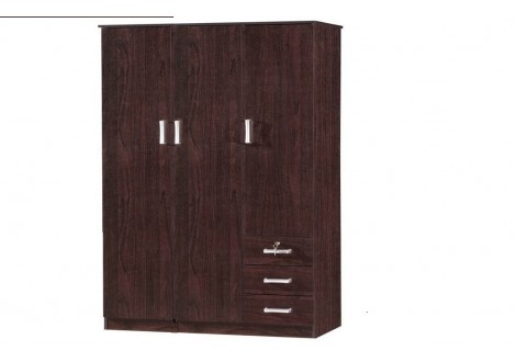 Armoire 3 portes/3 tiroirs  CHERRY wengé