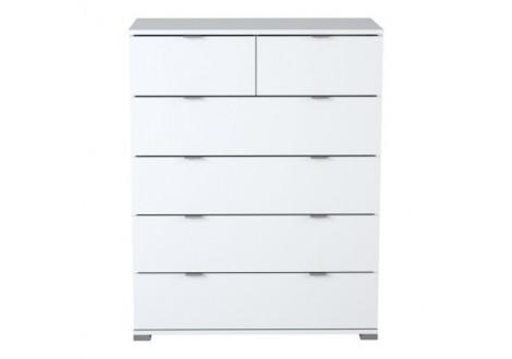 Commode 4+2 tiroirs PERFECT blanc