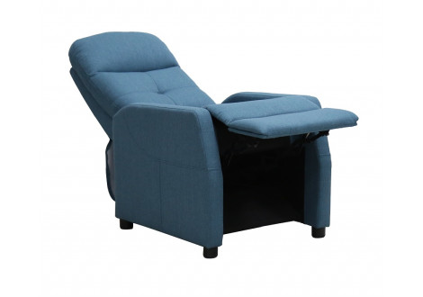 Fauteuil relax PORTO tissu bleu