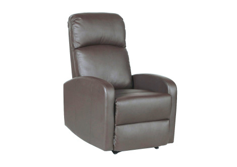 Fauteuil relax PORTO simili cuir Anthracite